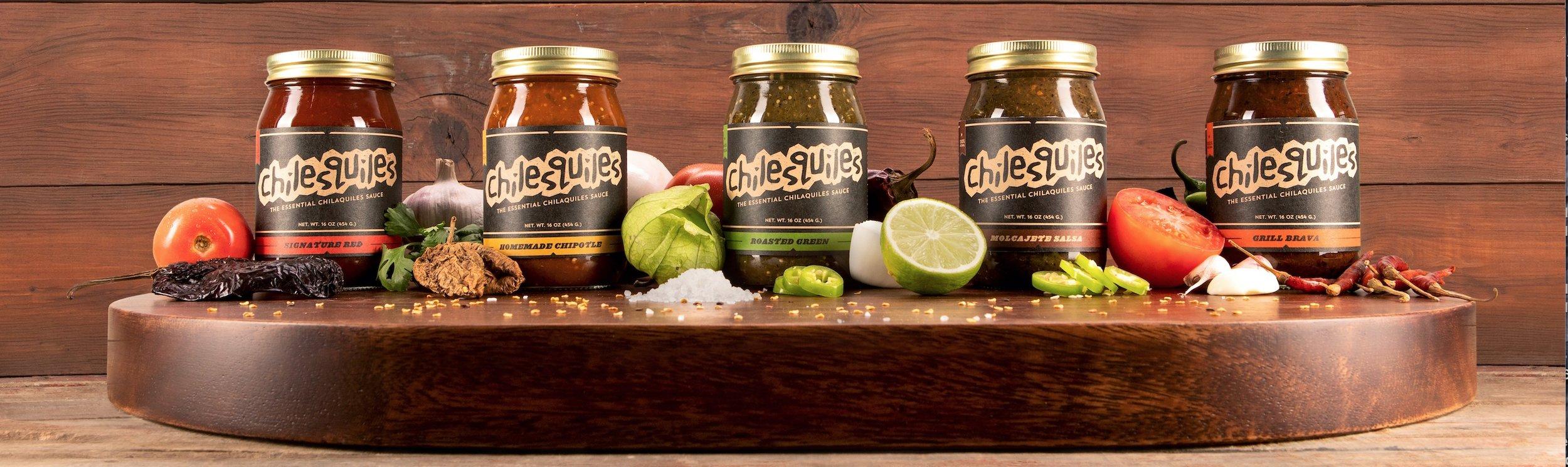 Chilesquiles salsa and sauce, spcialty salsa, fresh salsas, artisan sauces, online farmers market