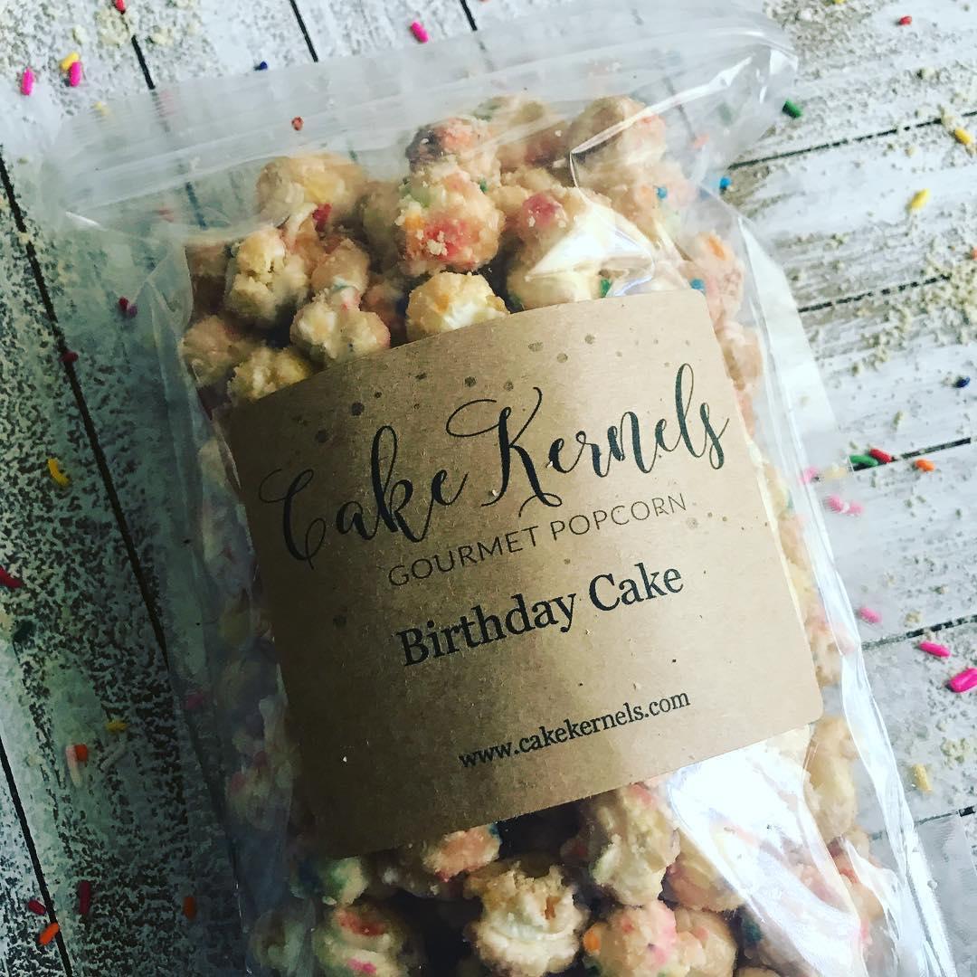 Cake Kernels, Gourmet Popcorn, Small batch snacks, popcorn dessert, online farmers market