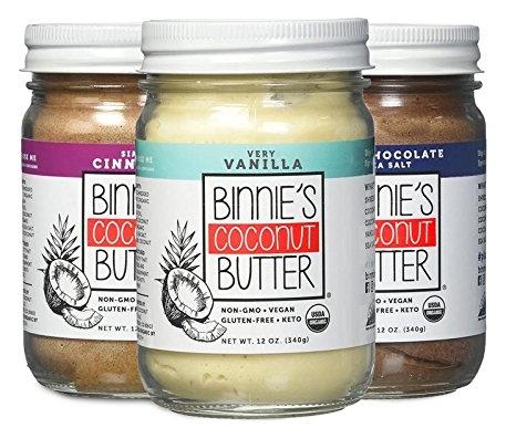 Binnie's Coconut Butter, natural coconut butter, organic coconut butters, online farmers market
