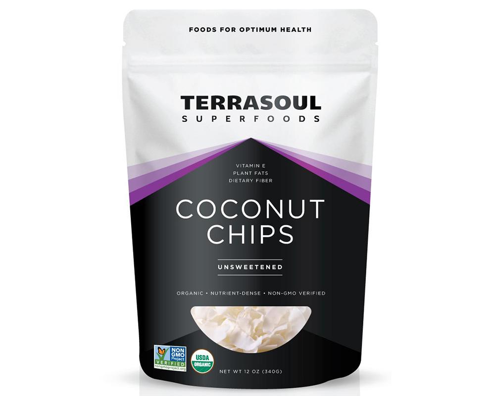 Buy Terrasoul coconut chips.