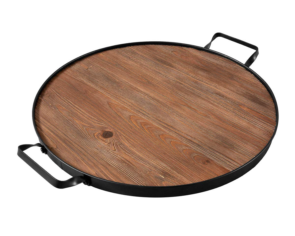Buy round wood serving tray perfect for cheese boards online.