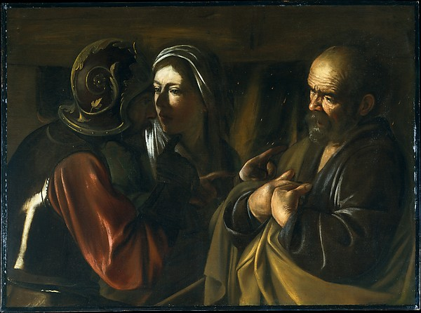 """The Denial of St. Peter"" Caravaggio"