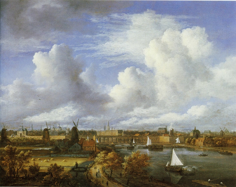 Panoramic View of the Amstel Looking Towards Amsterdam  , by Jacob van Ruisdael, Amsterdam Museum
