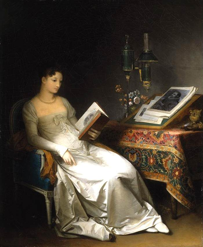Lady Reading in an Interior,  Marguerite     Gérard,  1795