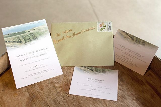 It is such an honor when one of your best friends ask you to design their wedding invitation for them. She had a vision, I put it to paper. #teamwork . . . #invitationdesign #wedding #invitation #vineyardwedding #collinherdonovan #saltwaterfarmvineyard #ackermancreativeco #heatherackermancreative