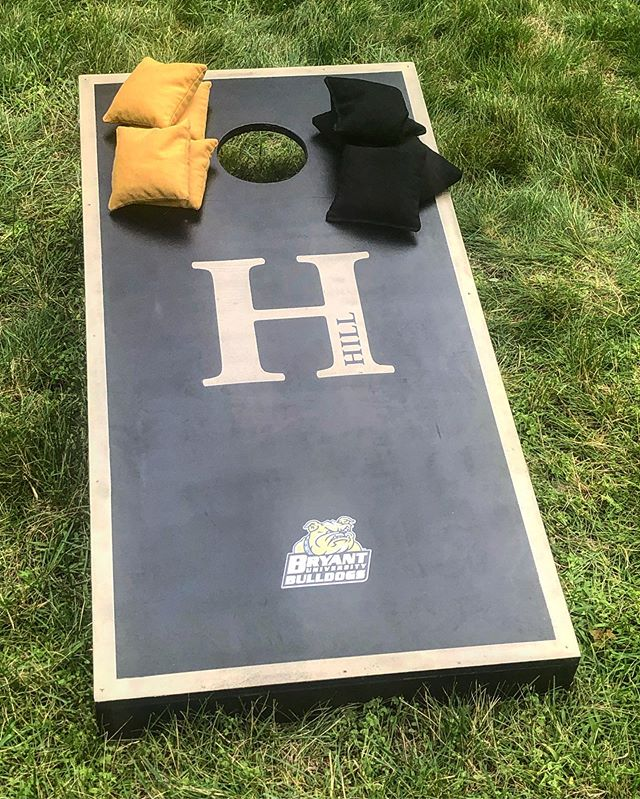 Custom cornhole board set for my cousin who will be going to Bryant in the fall!  #highschoolgrad #classof2019 #cornhole