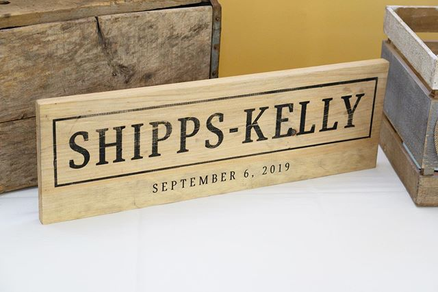 Distressed last name sign for the future Mr & Mrs!