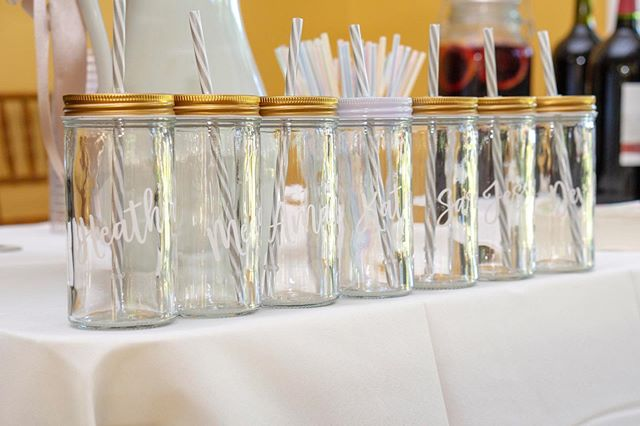 What bridal party doesn't love customized cups with their names on it?