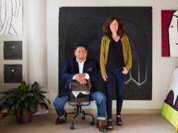 - co-curators, Frank Juarez & Melissa Dorn.Photo by Lois Bielefeld