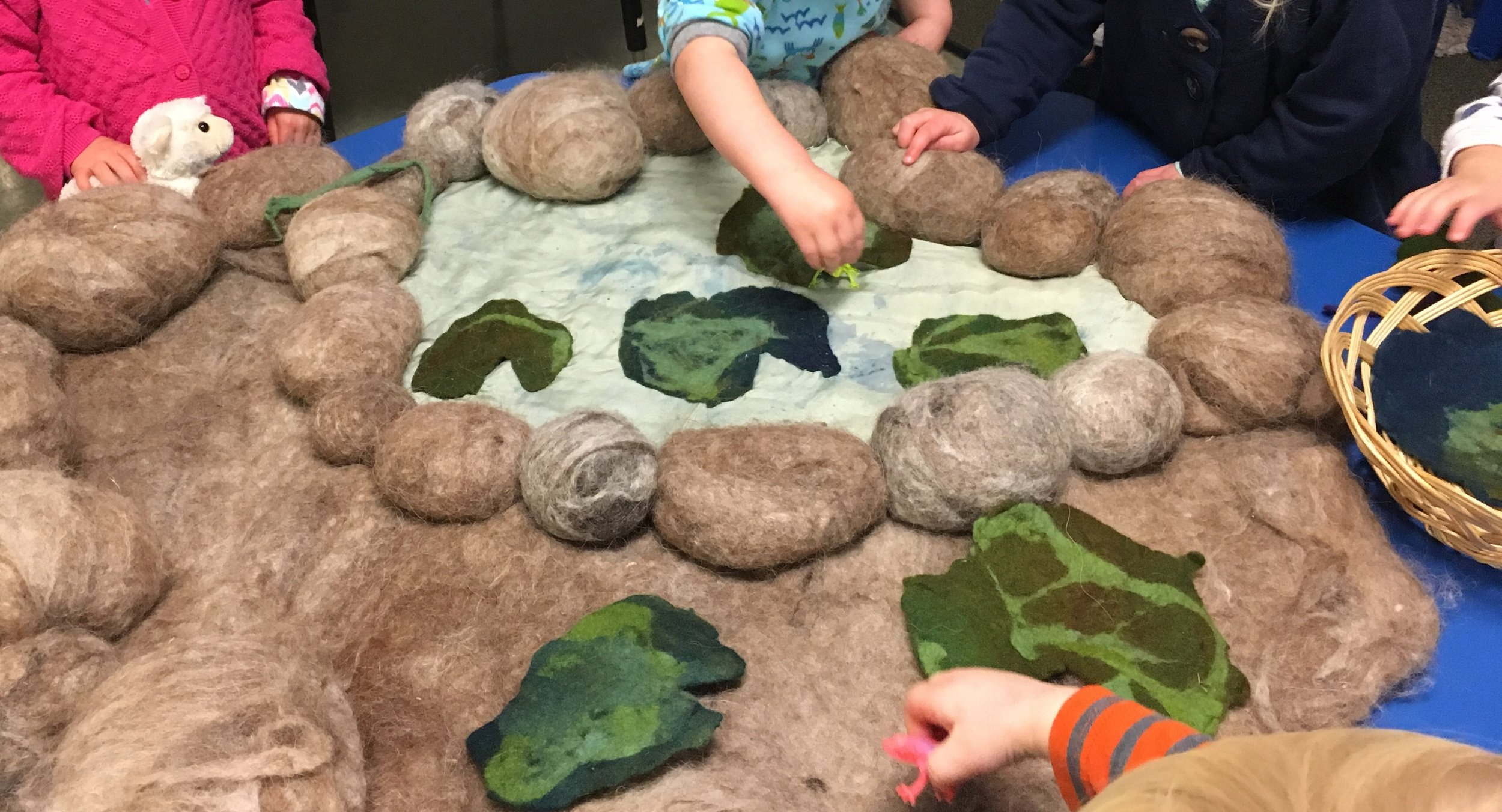 Felted playmat created by Blossom Children.