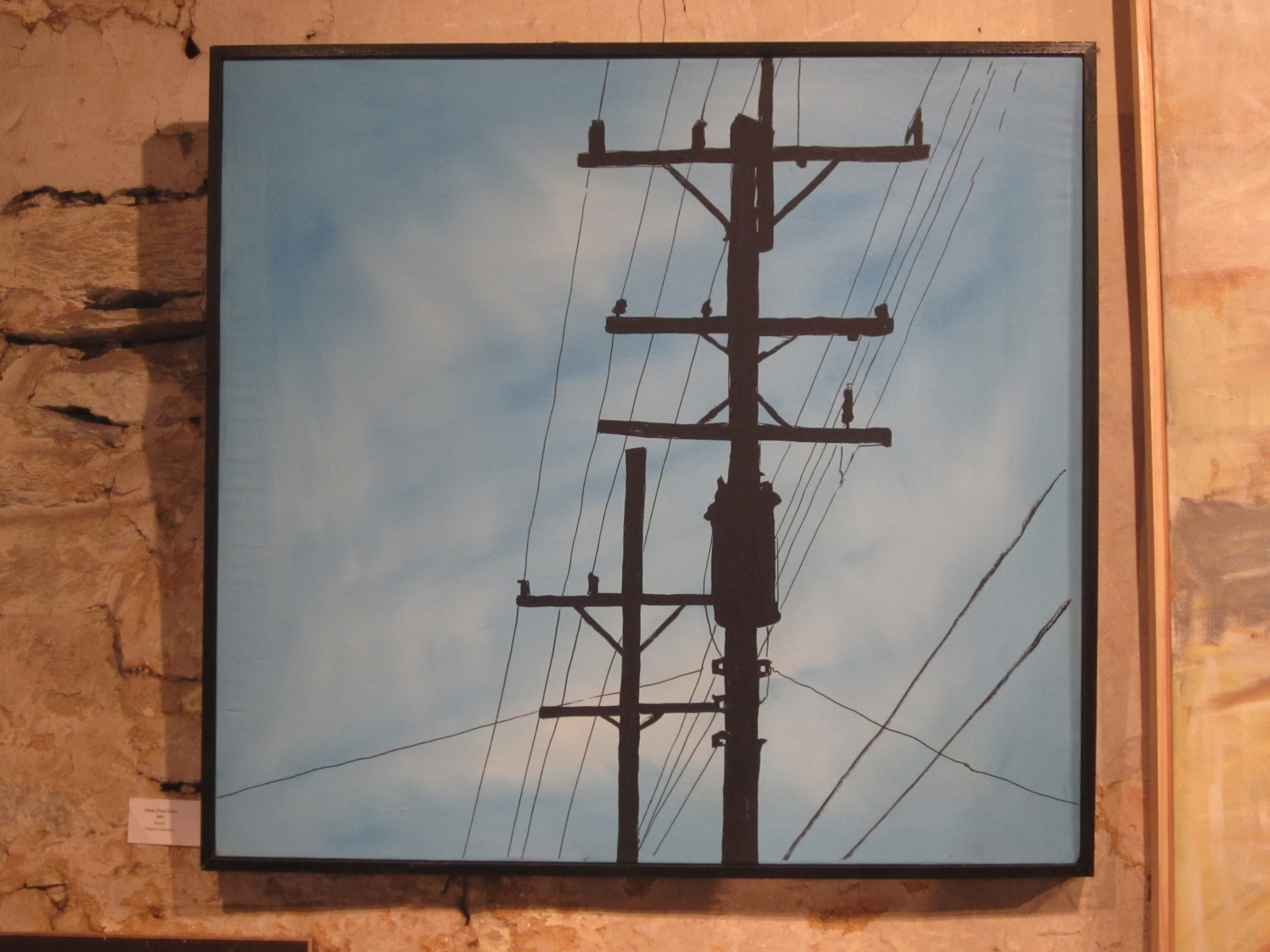 Electric Poles Oil on Canvas