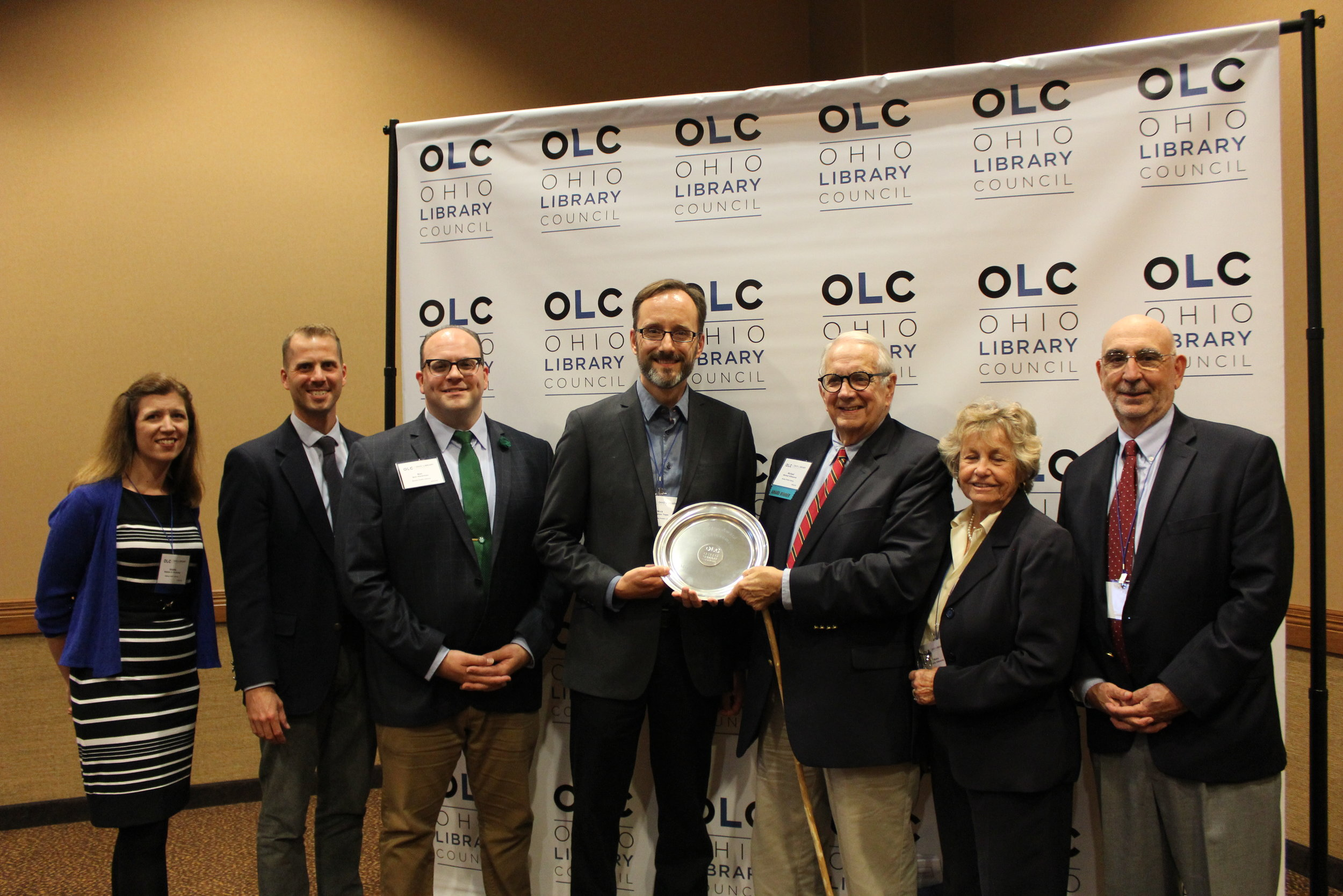 Bexley Public Library trustee Michael Kilbourne has been named by the Ohio Library Council as Trustee of the Year. He was honored during the Ohio Library Council's Awards and Honors Luncheon on Wednesday, October 3, at the Kalahari Resort and Convention Center in Sandusky,Ohio