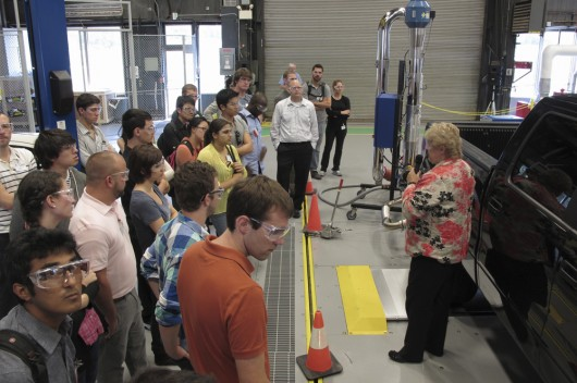 Participants visit the Argonne National Lab Transportation Research Center