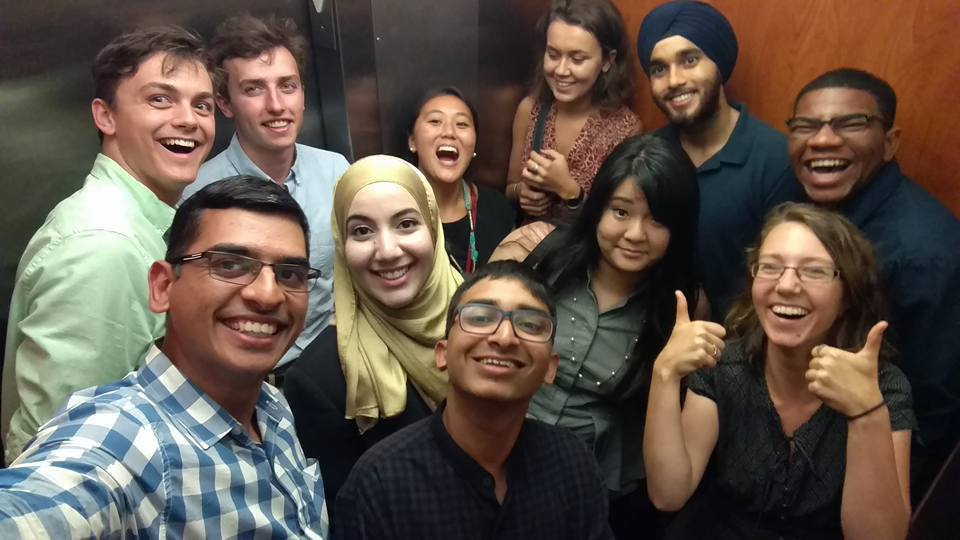 Some 2014 SISE'ers in an elevator. They didn't spend the whole program there. Don't worry.