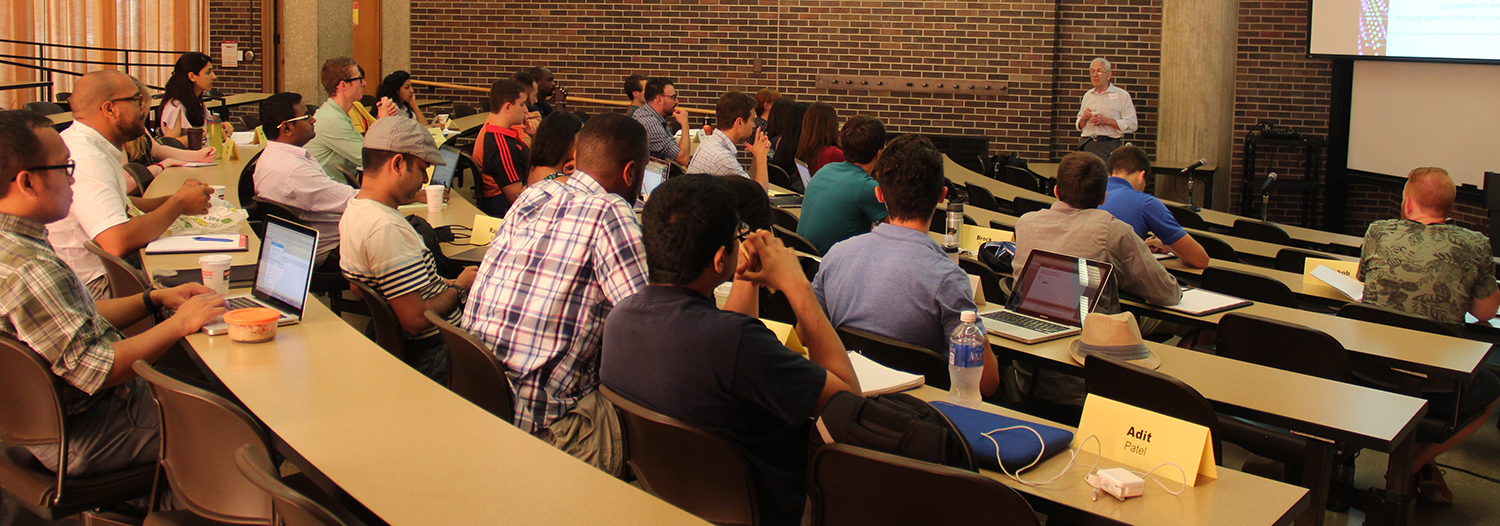 2015 SISE'ers end their day with George Crabtree.
