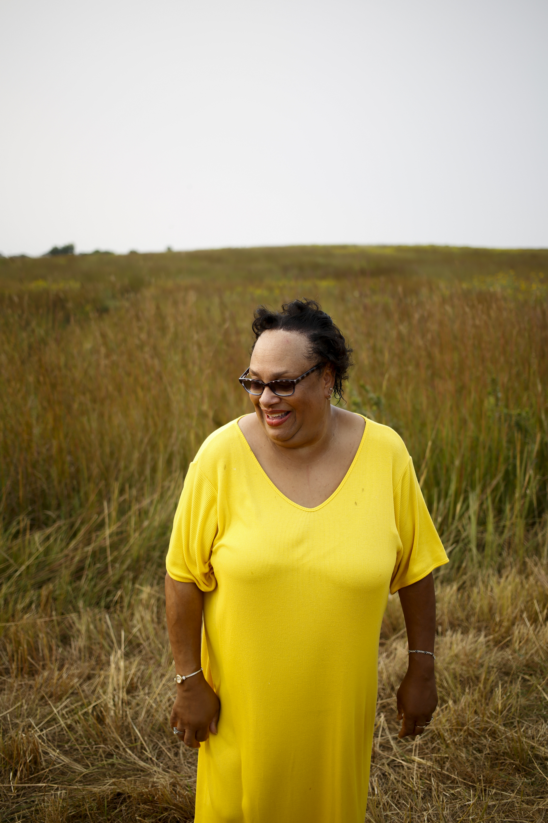 Well-known jazz and blues singer and Lincoln native Annette Murrell stands for a portrait shortly after performing at the Prairie Jazz Festival Saturday August 29, 2015 at Pioneer Park Nature Center outside of Lincoln, Nebraska. All proceeds gathered are to be donated to the Pioneer Park Nature Center to preserve and bring awareness to wilderness habitats across Nebraska and the nation.