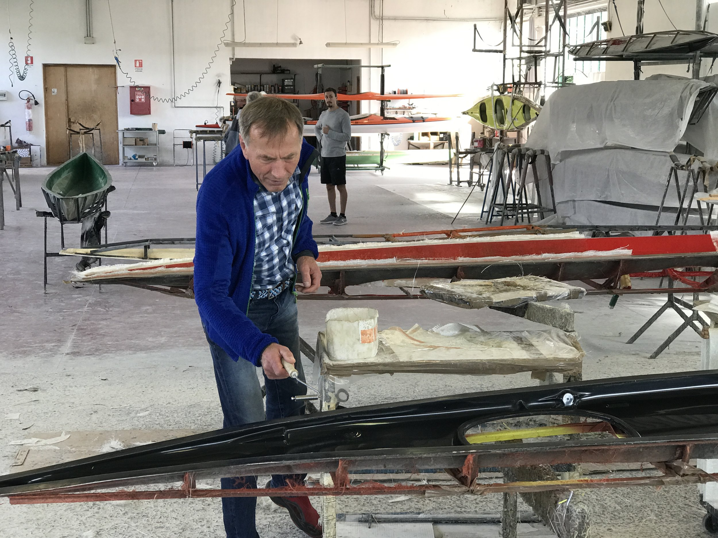To make a long story short, we ended up in a factory and bought a great kayak called Marlin. Now, Endre is ready to paddle