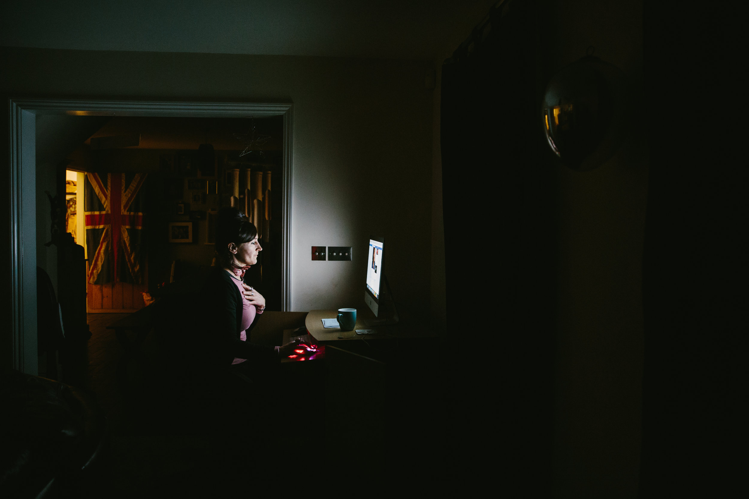 Kath runs the operation from her living room, often working late into the night. Members' stories frequently reduce her to tears
