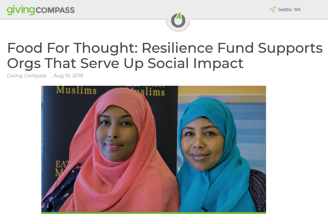Food For Thought: Resilience Fund Supports Orgs That Serve Up Social Impact - 8/10/2018: Food doesn't just nourish our bodies — it sustains our souls. And in the case of several social justice-focused organizations located in the Pacific Northwest, breaking bread with others is central to broader understanding, tolerance and progress in our society.