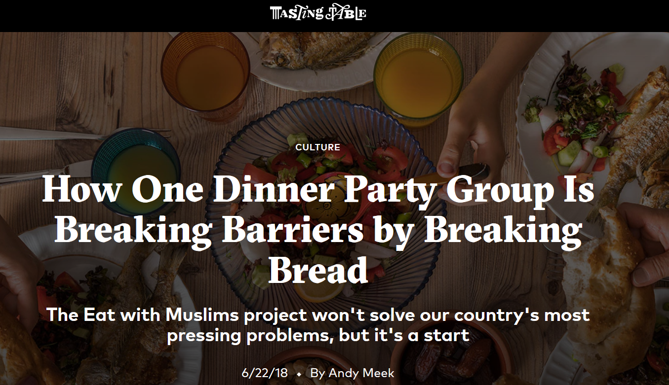 How One Dinner Party Group Is Breaking Barriers by Breaking Bread - 6/22/18: There's no denying we live in divisive times. But as two Somali-American Muslim women are finding, one way to confront the country's ugliest problems is to start with an invitation.