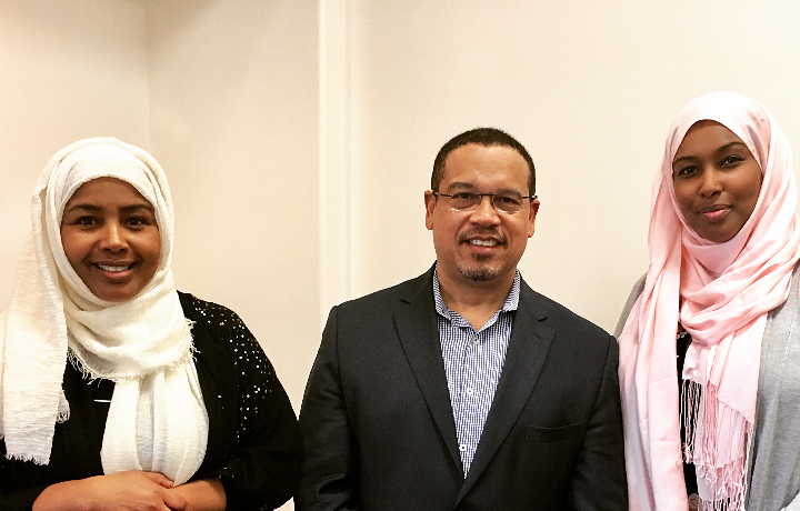 We had the opportunity to speak with Congressman Kieth Ellison of Minnesota at Muslims Association of Puget Sound, a local mosque in Redmond.