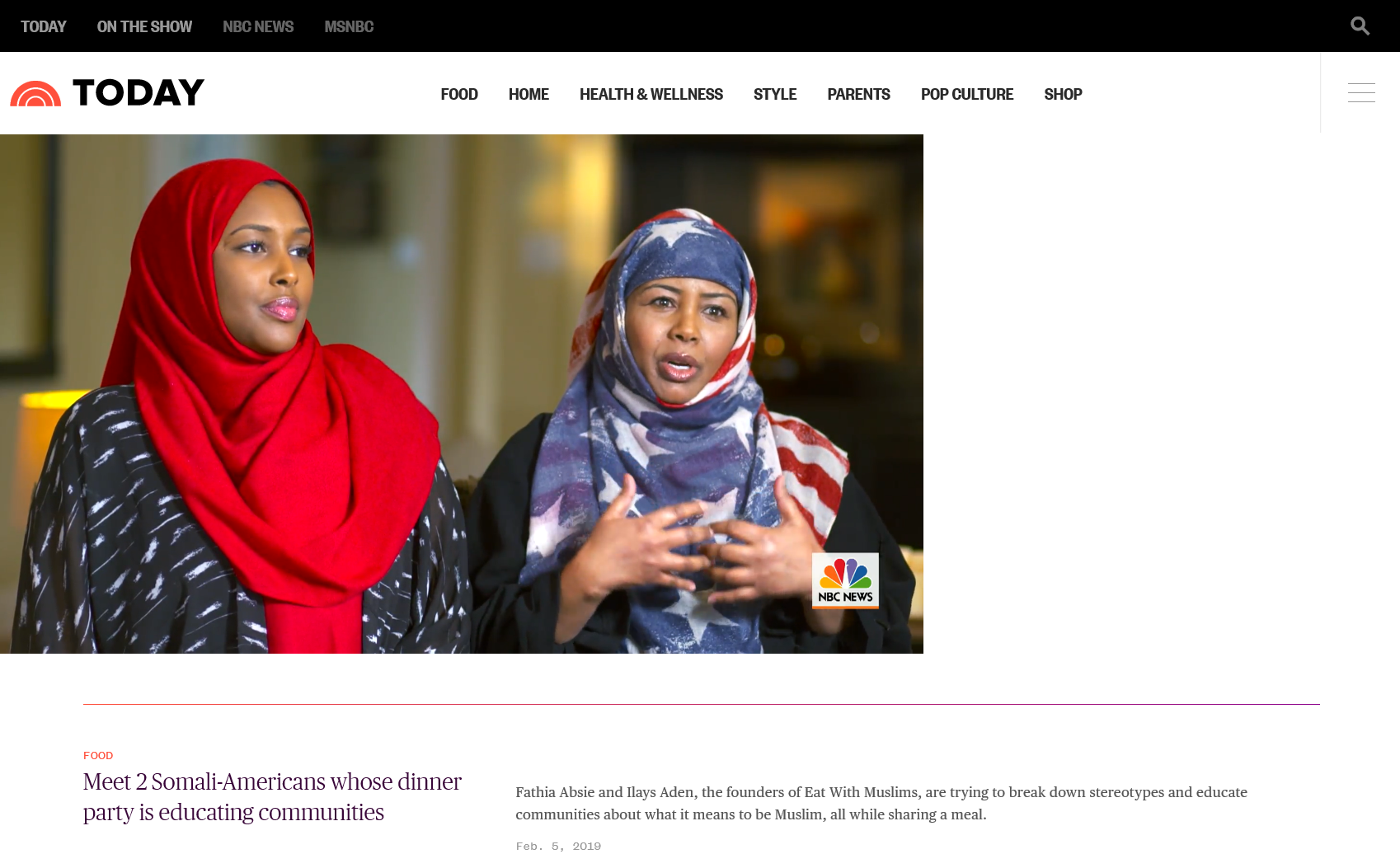 Meet 2 Somali-Americans whose dinner party is educating communities - 2/5/2019: Fathia Absie and Ilays Aden, the founders of Eat With Muslims, are trying to break down stereotypes and educate communities about what it means to be Muslim, all while sharing a meal.