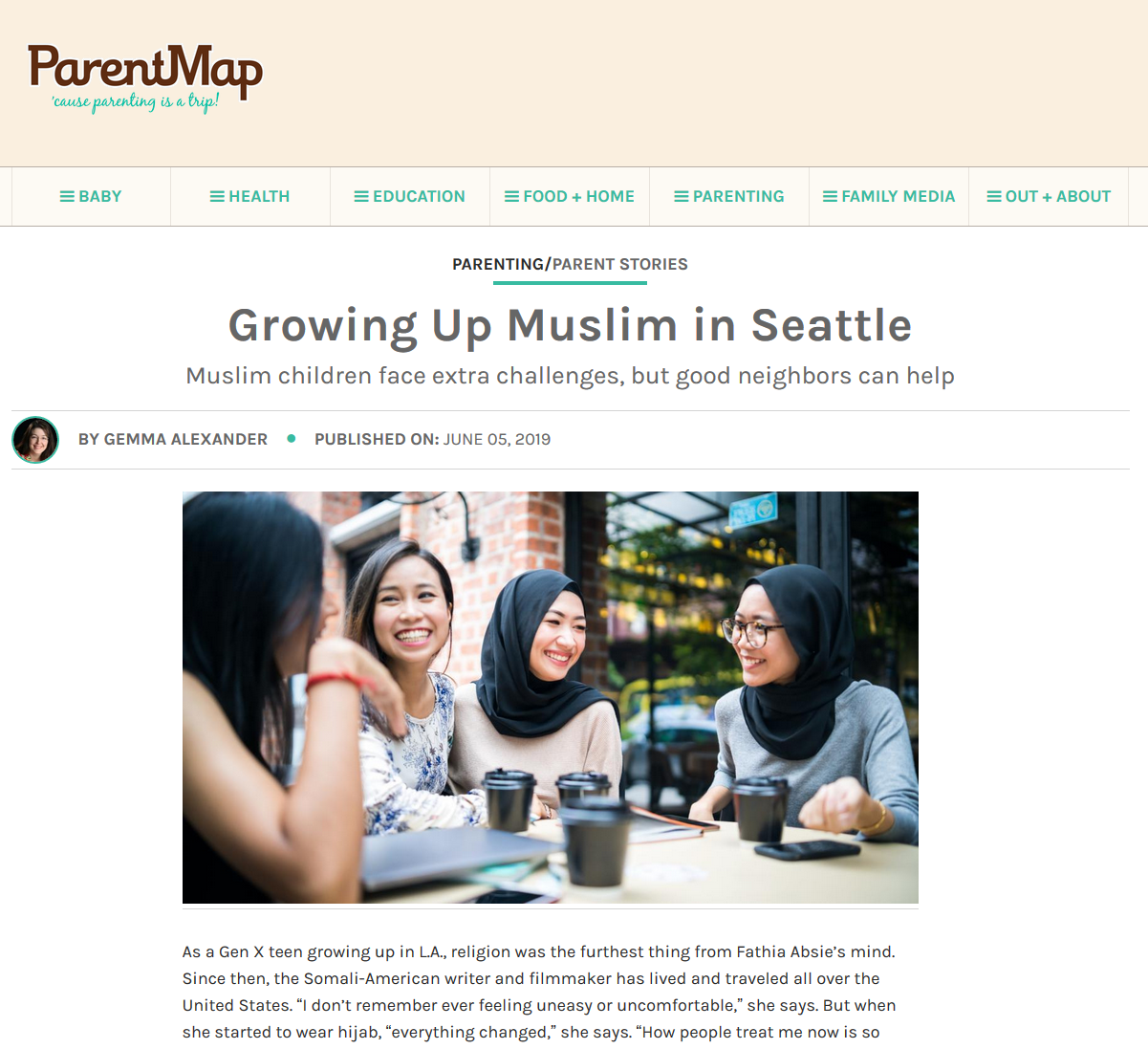 "Growing Up Muslim in Seattle - 6/5/2019: As a Gen X teen growing up in L.A., religion was the furthest thing from Fathia Absie's mind. Since then, the Somali-American writer and filmmaker has lived and traveled all over the United States. ""I don't remember ever feeling uneasy or uncomfortable,"" she says. But when she started to wear hijab, ""everything changed,"" she says. ""How people treat me now is so different."""