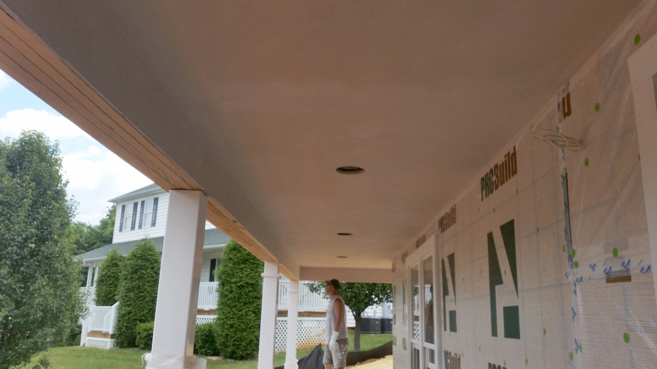 Plastered Porch Ceiling