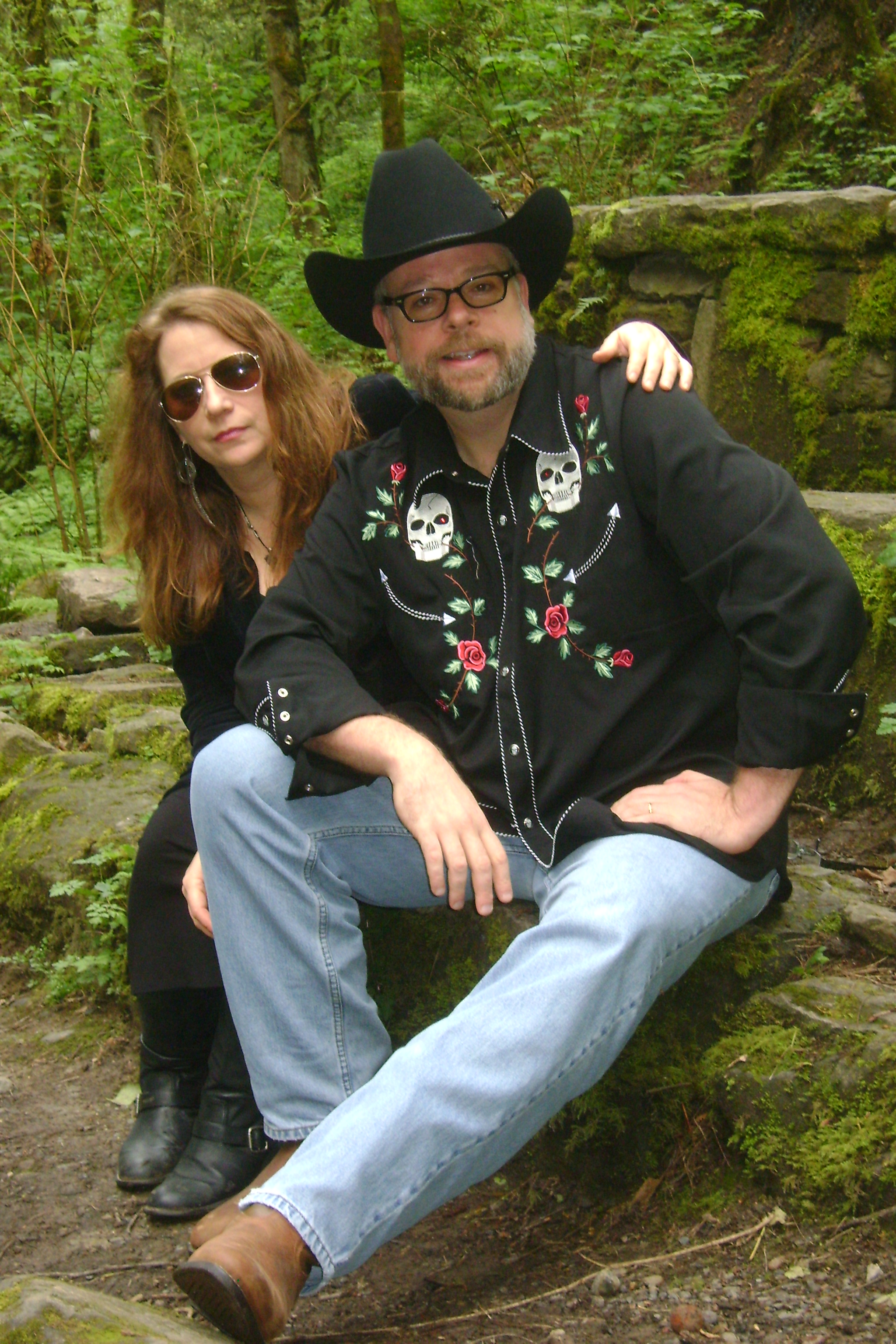 Authors Clark Hays and Kathleen McFall. The authors work in Oregon. Clark was born in Texas where much of the action of the Bonnie and Clyde books takes place.