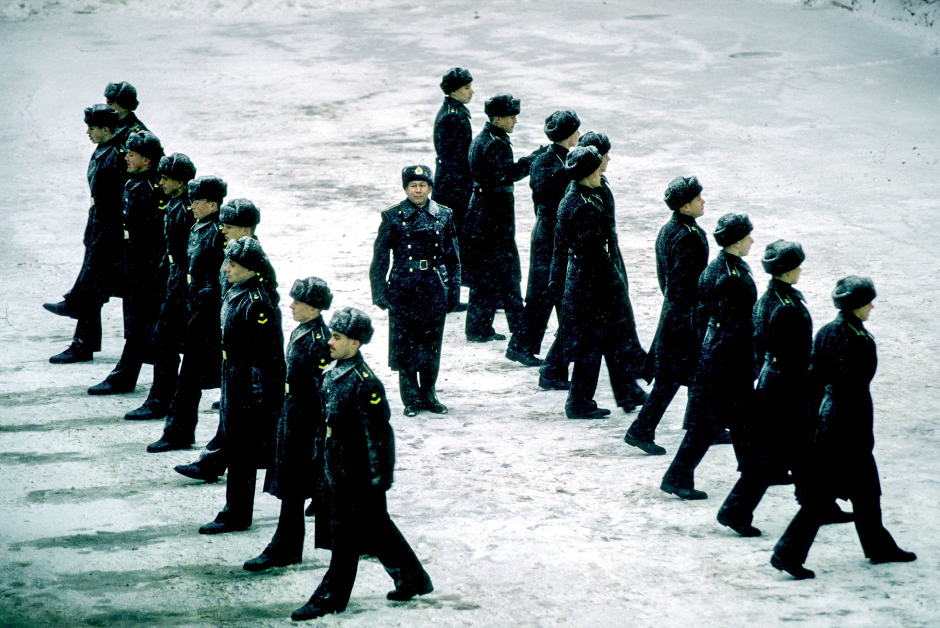 Russia - December 1, 1990 Military Academy in Russia.