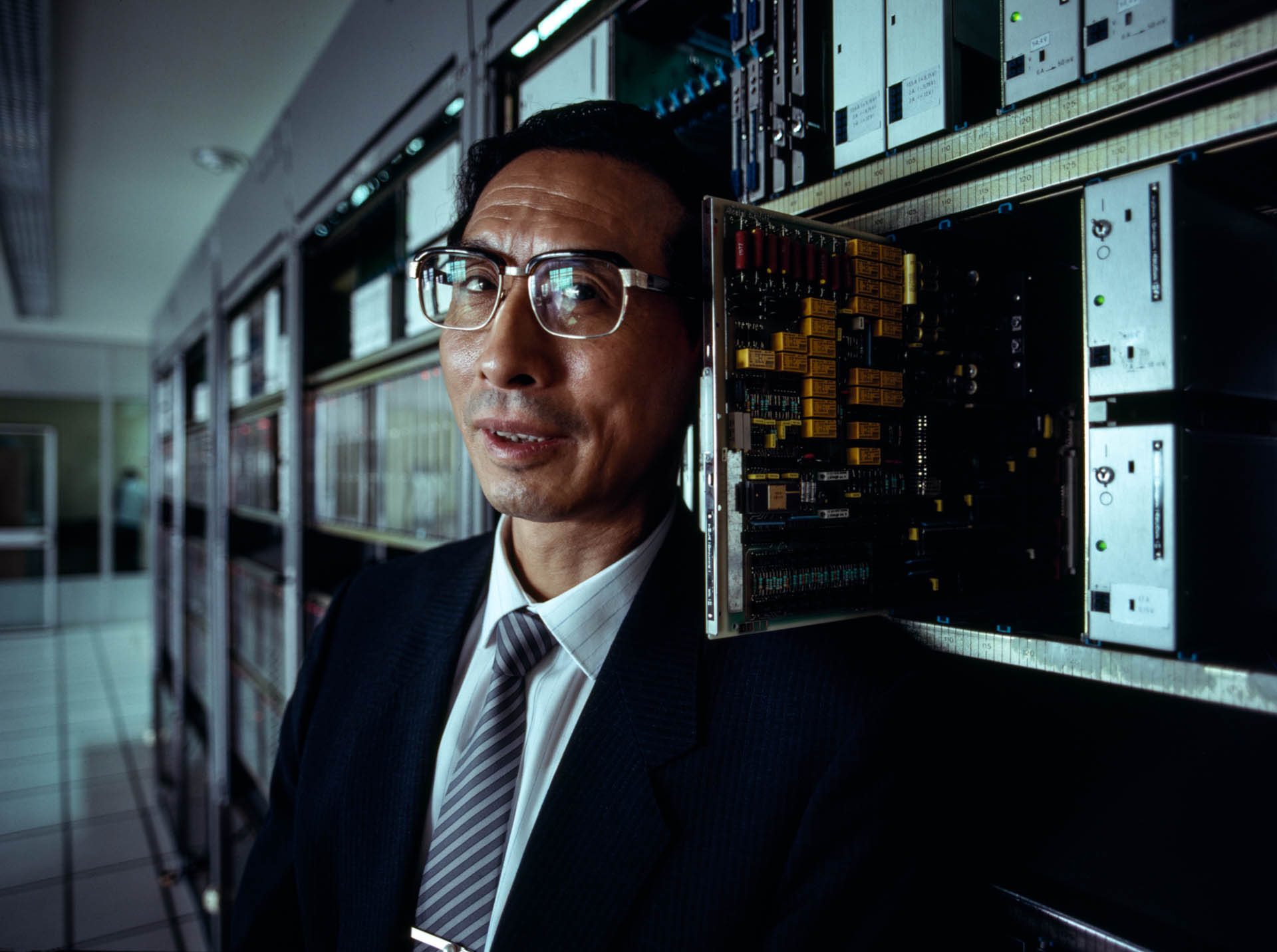 Shanghai, China - June 1988. In 1983 Xu Deen became CEO of the China National Technical Import Export Corporation. He inaugurated Beijing's first electronic telecommunication center.