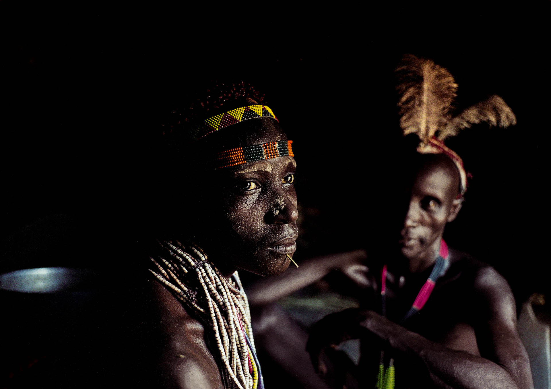 The beauty of the Karo women also consist of color and pain.  .