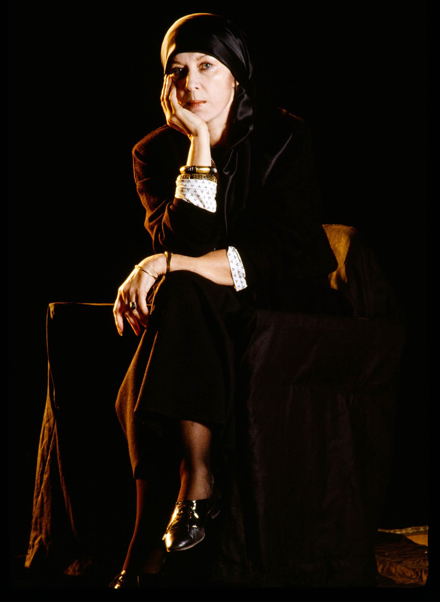 Moscow, Russia, USSR - April-May 1989 Actress Alla Demidova.