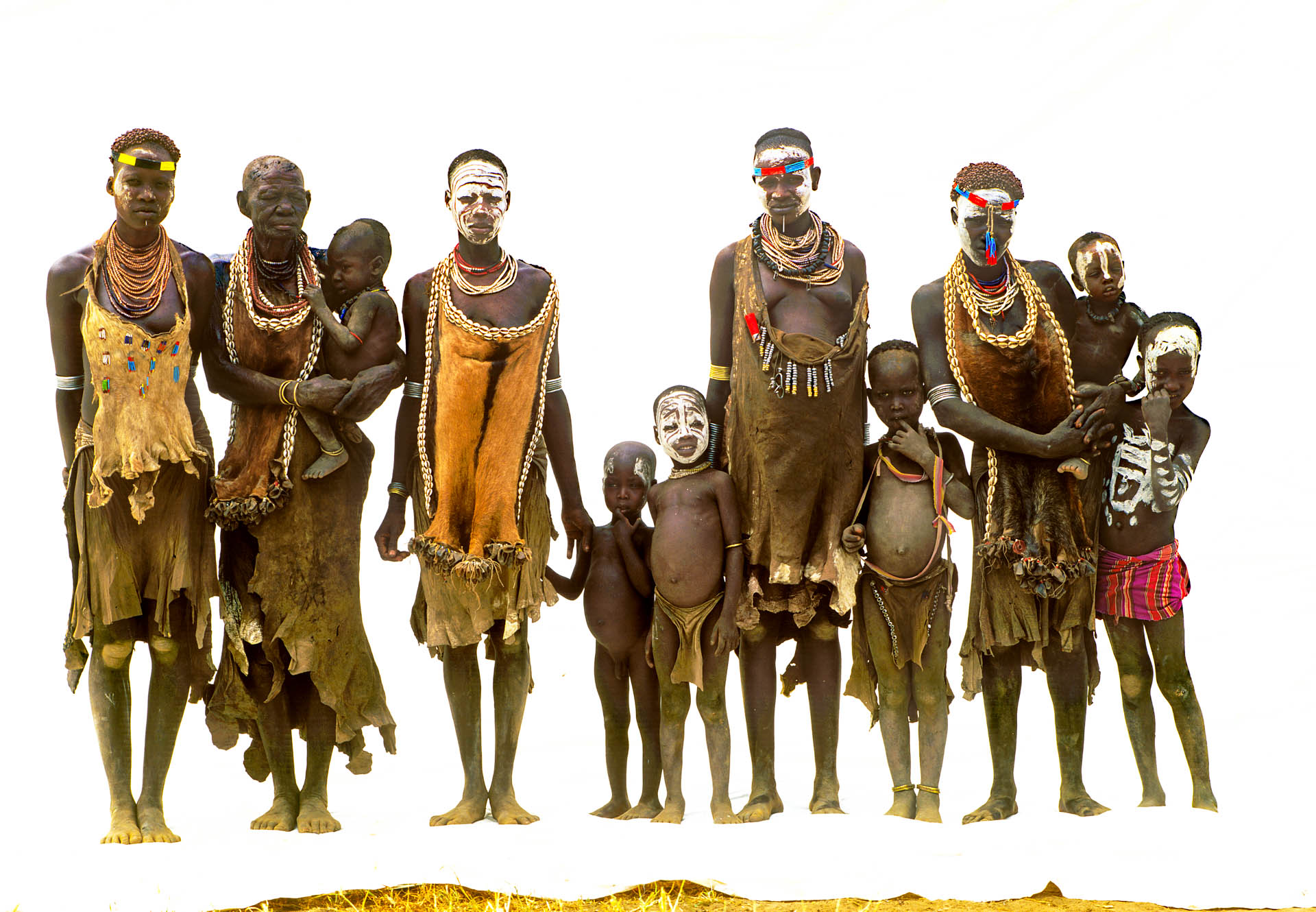 Omo Valley, Ethiopia - June 2003African Beauty: portrait of people of Karo tribe from Korcho village, in the Omo Valley.© GIANNI GIANSANTI