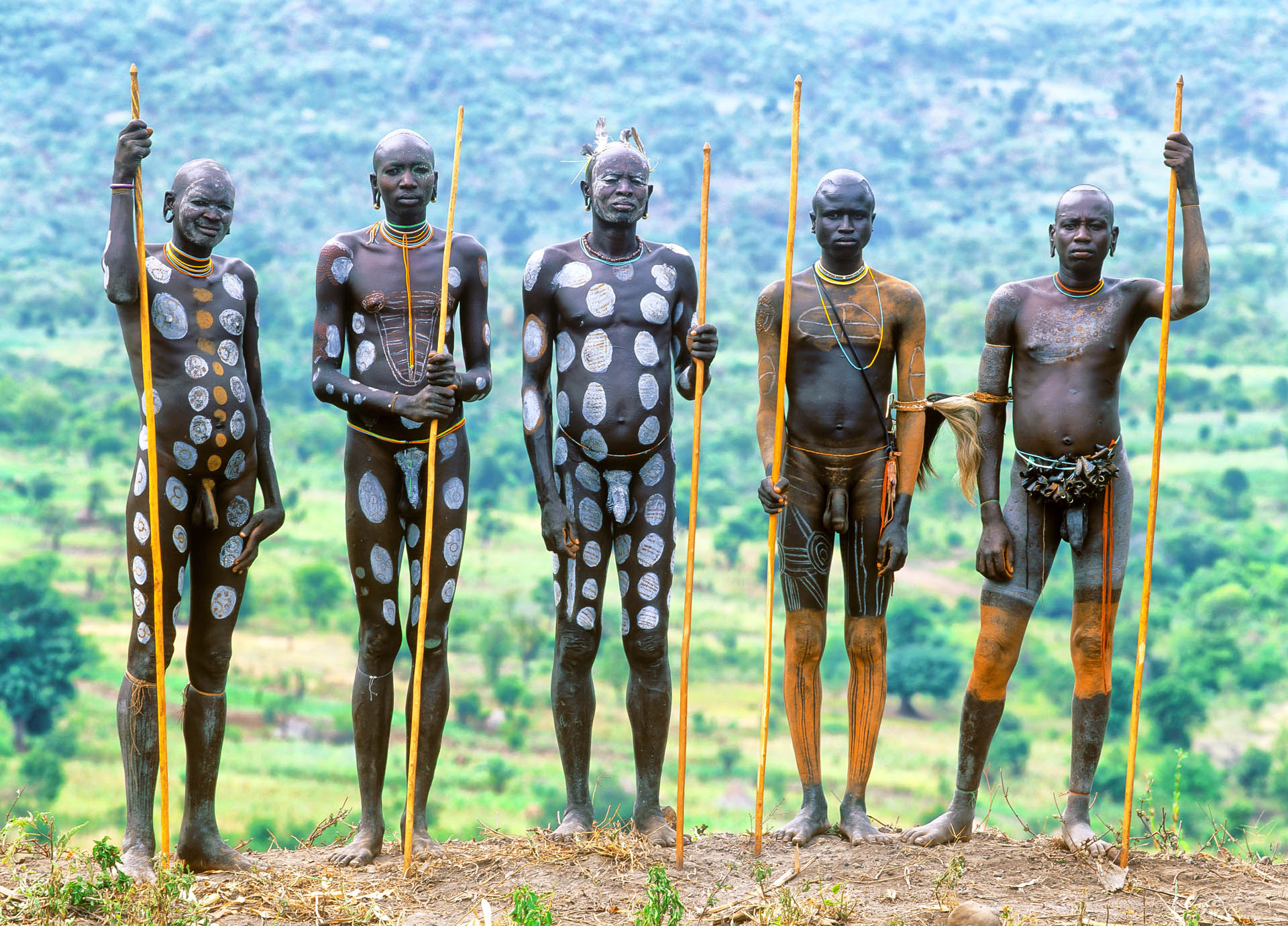 Omo Valley, Ethiopia - June 2003African Beauty: portrait of people of Surma tribe from Kormu village, in the Omo Valley.© GIANNI GIANSANTI