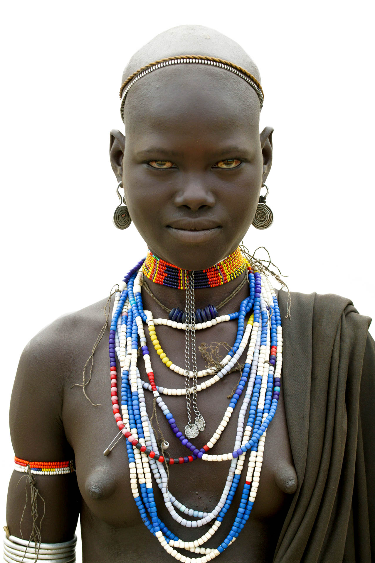 Omo Valley, Ethiopia - June 2003African Beauty: portrait of people of Erbore tribe from in the Omo Valley.© GIANNI GIANSANTI