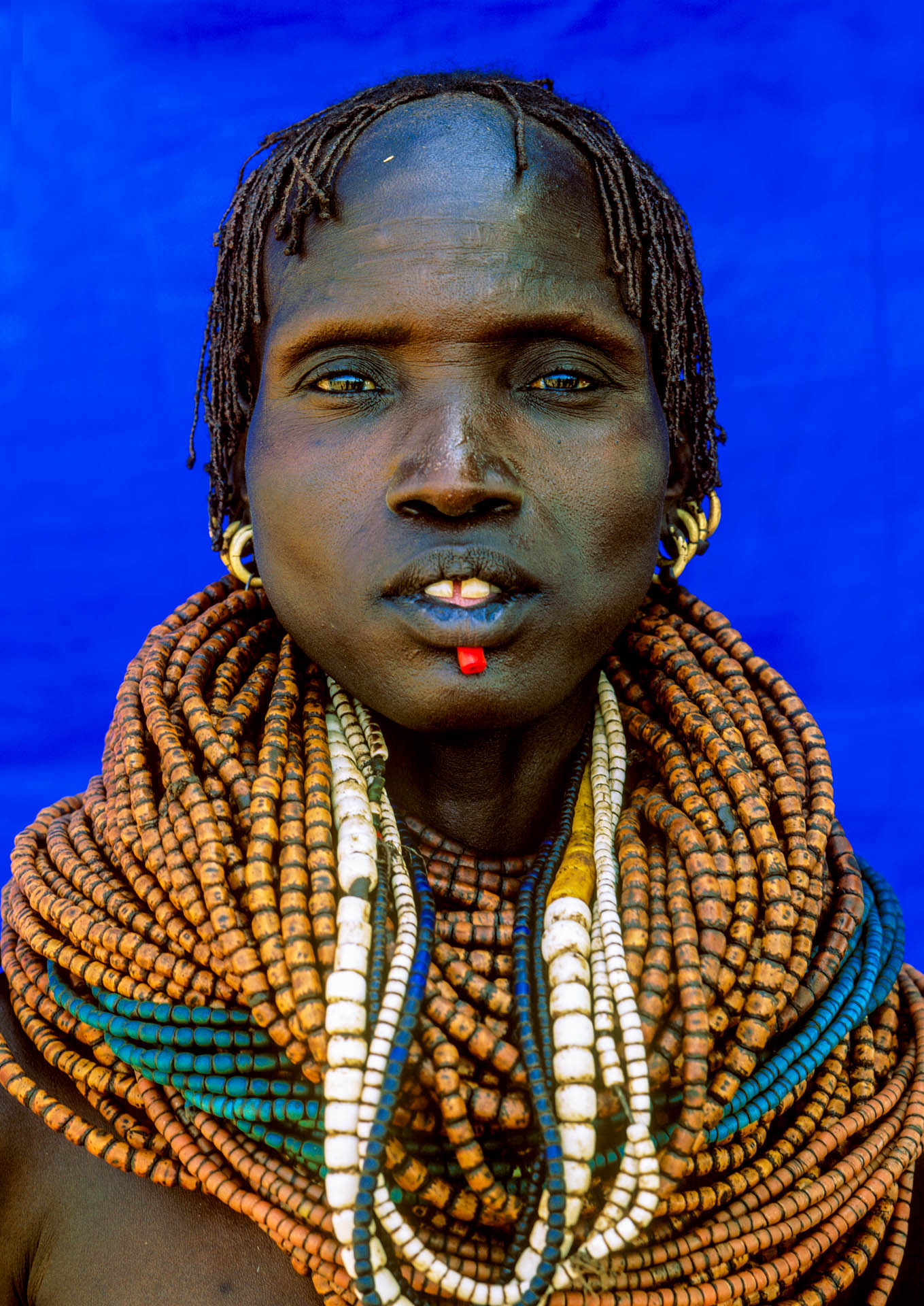 Omo Valley, Ethiopia - June 2003African Beauty: portrait of people of Galeb tribe from Rate village, in the Omo Valley.© GIANNI GIANSANTI