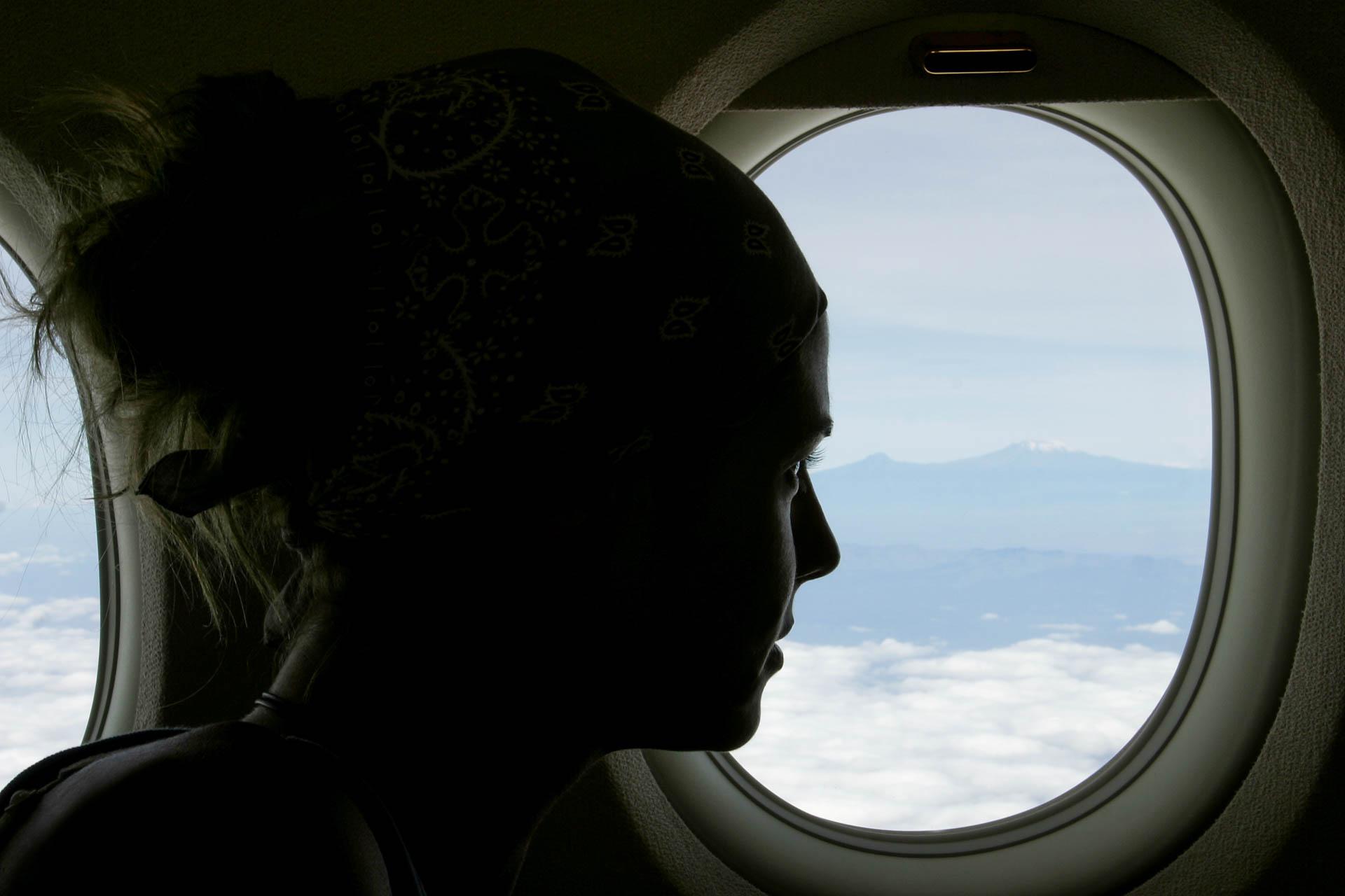 Planning towards Masai Mara, a glance at the Kilimangiaro.