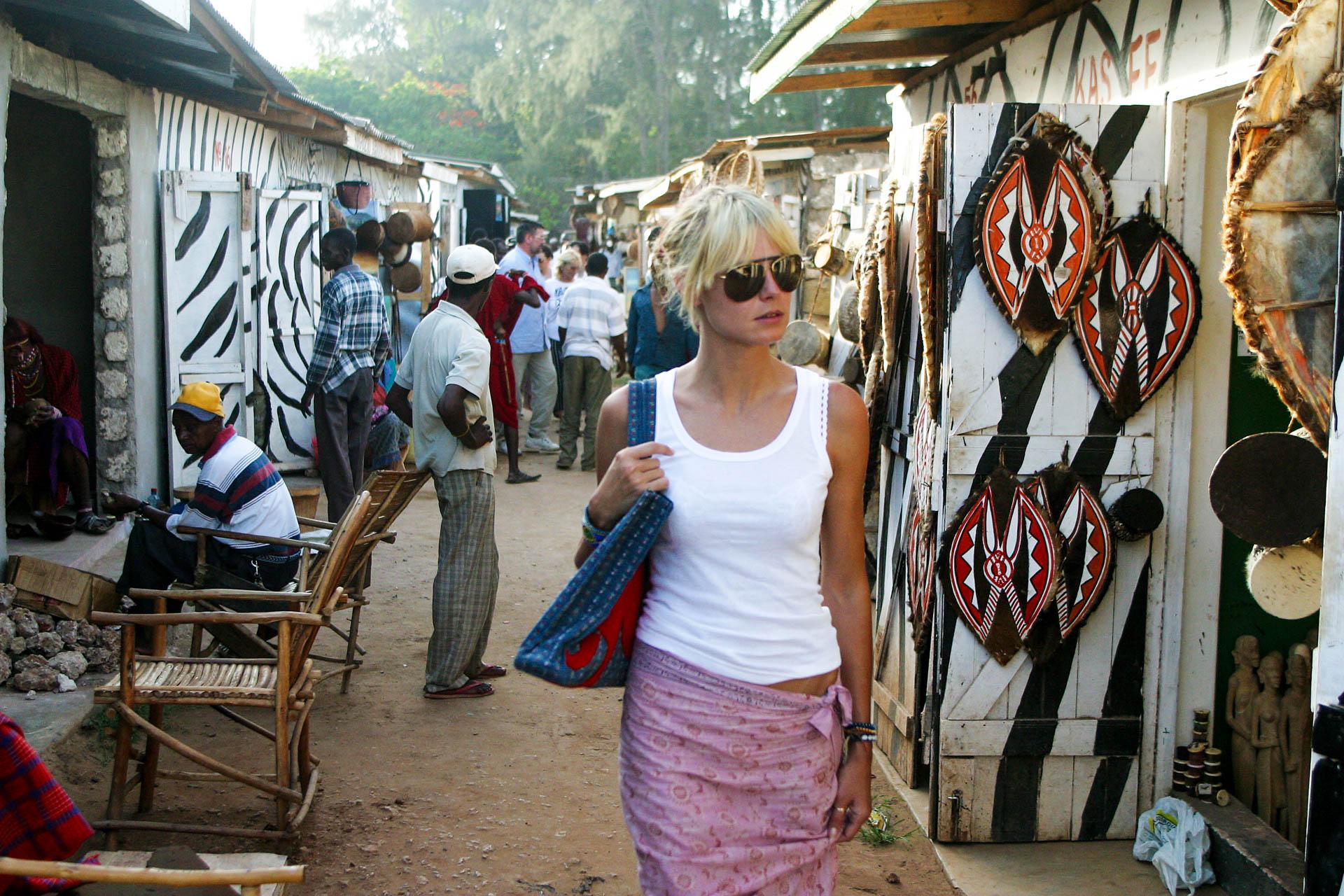 Shopping in the market of Malindi.