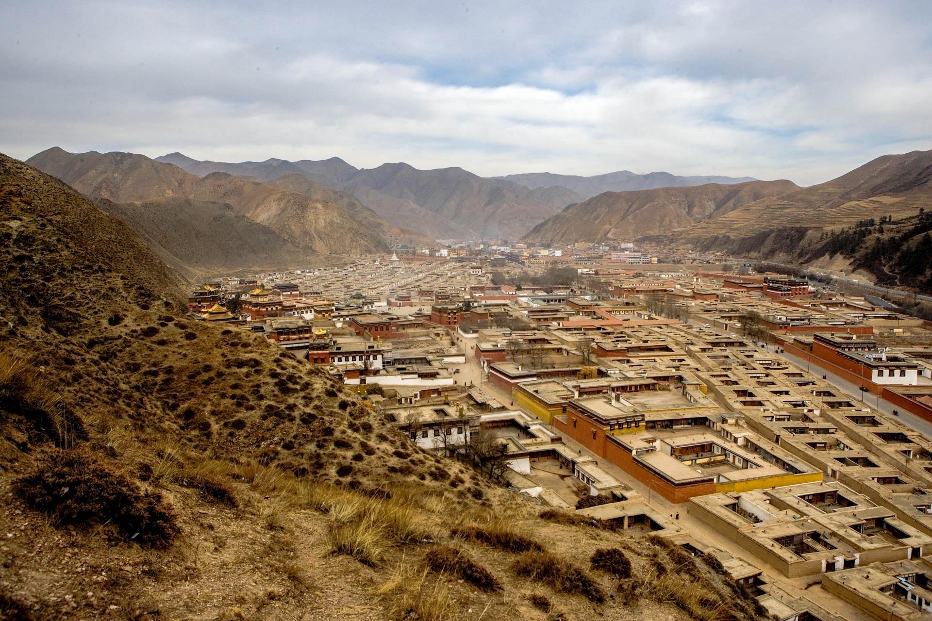 Xiahe, China - 12 February 2006View of Xiahe and Labrang Monastery. © GIANNI GIANSANTI