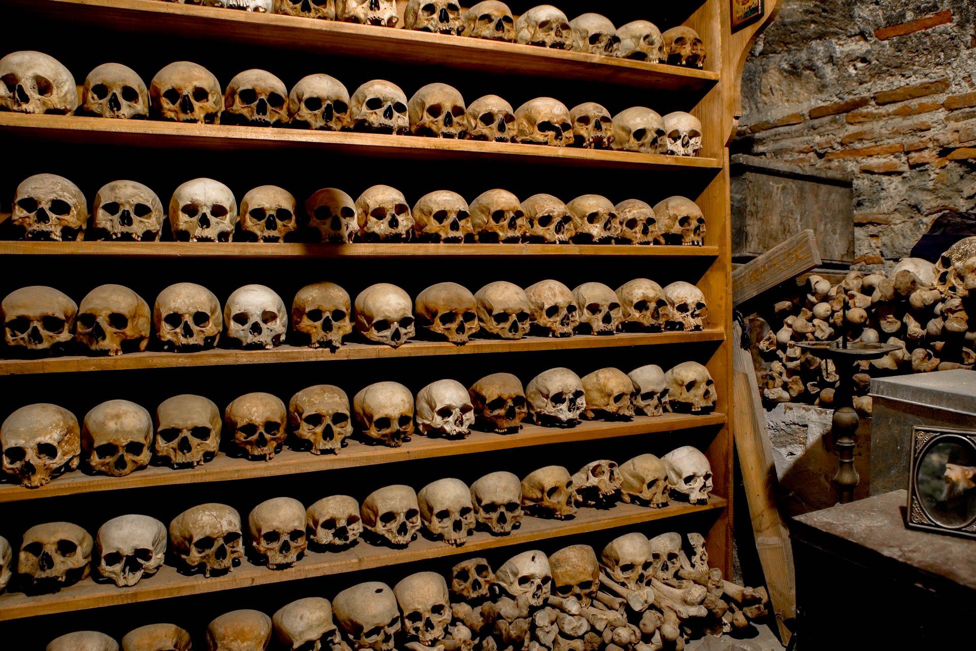 Kalambaka, Greece - 21 January 2006The ossuary of the Great Meteoron MonasteryThe Meteora monasteries , 1988's Unesco World Heritage List, represents today a unique example of monastic life since the 14th century .  © GIANNI GIANSANTI