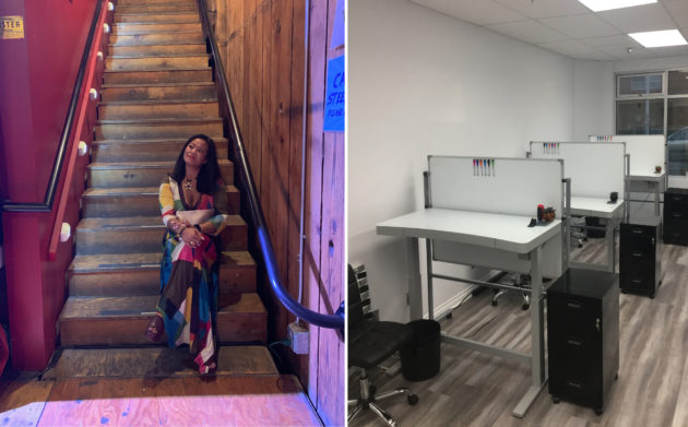 Eileen Carpenter and the co-working space at Tag. Photo courtesy of Tag Spaces.