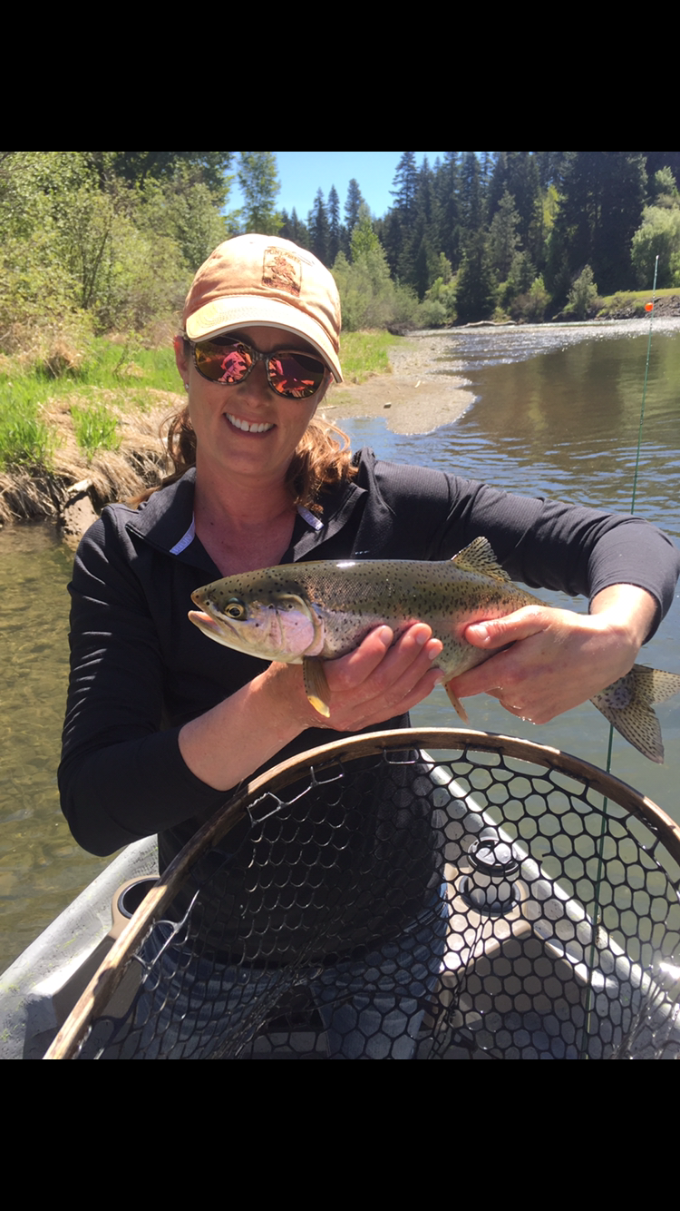 Caryn Rodman Cle Elum, WA  I started fly fishing about 4 years ago and fell in love with it. I have tried to get out on the river as much as I can ever since then. I took up fly tying and have enjoyed learning the patterns and techniques of different flies used on our local rivers. I own a small construction company specializing in finish carpentry. I've always had an interest in how things work and enjoy learning new skills.