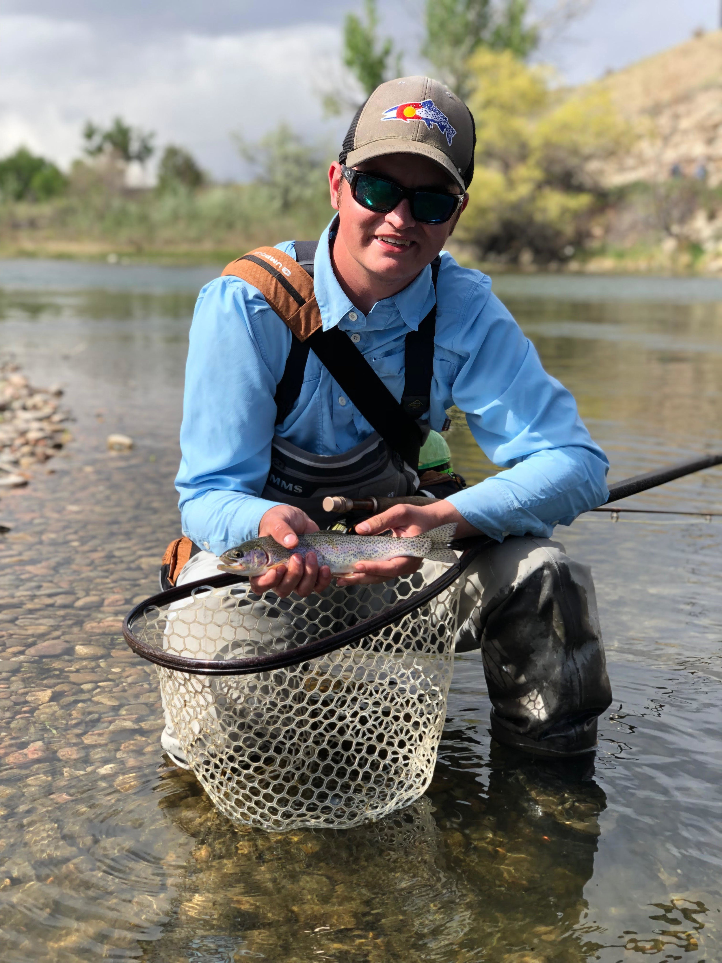"""Dustin Brewer  """"I am a Colorado native and grew up south east of Denver in a small town. I have been fishing and hunting my whole life. Fly fishing really became my passion after the last few years and I'm mostly self taught. I get out in the mountains and find new places to fish every chance I get, and when I'm not fishing I'm trying to tie new patterns and become a better fly tier. I really enjoy sharing my passion with other people and am very excited to help and teach more kids."""""""