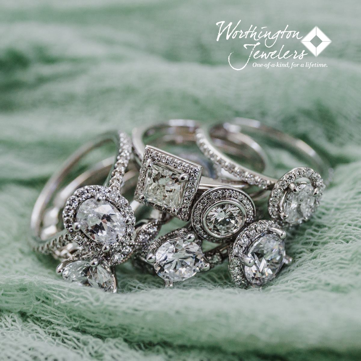 Worthington Jewelers Bridal Jewelry Package - One grand prize winner will win a 1.06 carat diamond valued at $6,000 and a $2,500 Worthington Jewelers gift certificate to use for a custom setting, bridal jewelry, custom wedding bands, or however the winner chooses. Total prize valued at $8,500.