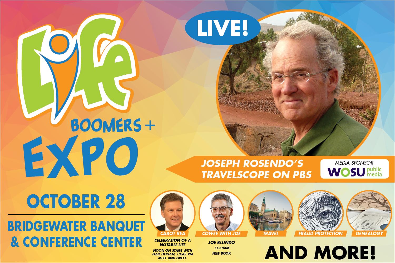 2018 LIFE Boomer Expo+ featuring Joseph Rosendo and Cabot Rea.