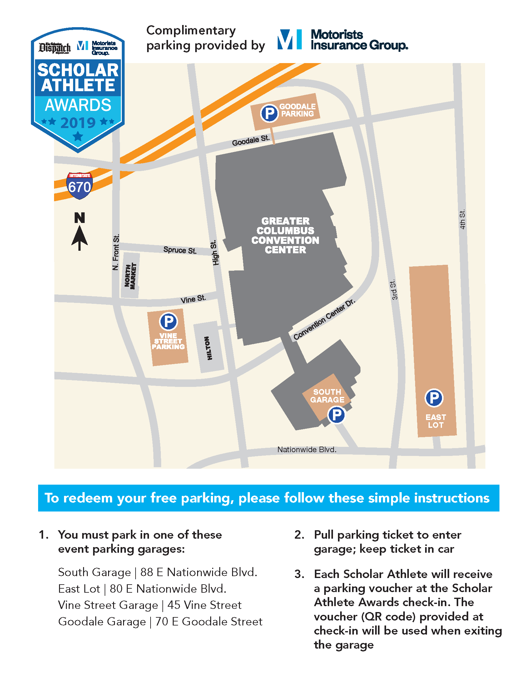 PARKING - Follow the instructions to find your preferred parking location!