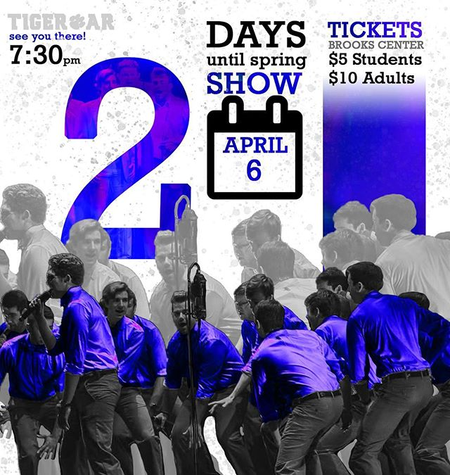 2 MORE DAYS!! Buy tickets in our bio or any time today from 10:30- 1:30 on Library Bridge!! #springshow #cuthere #gotigers