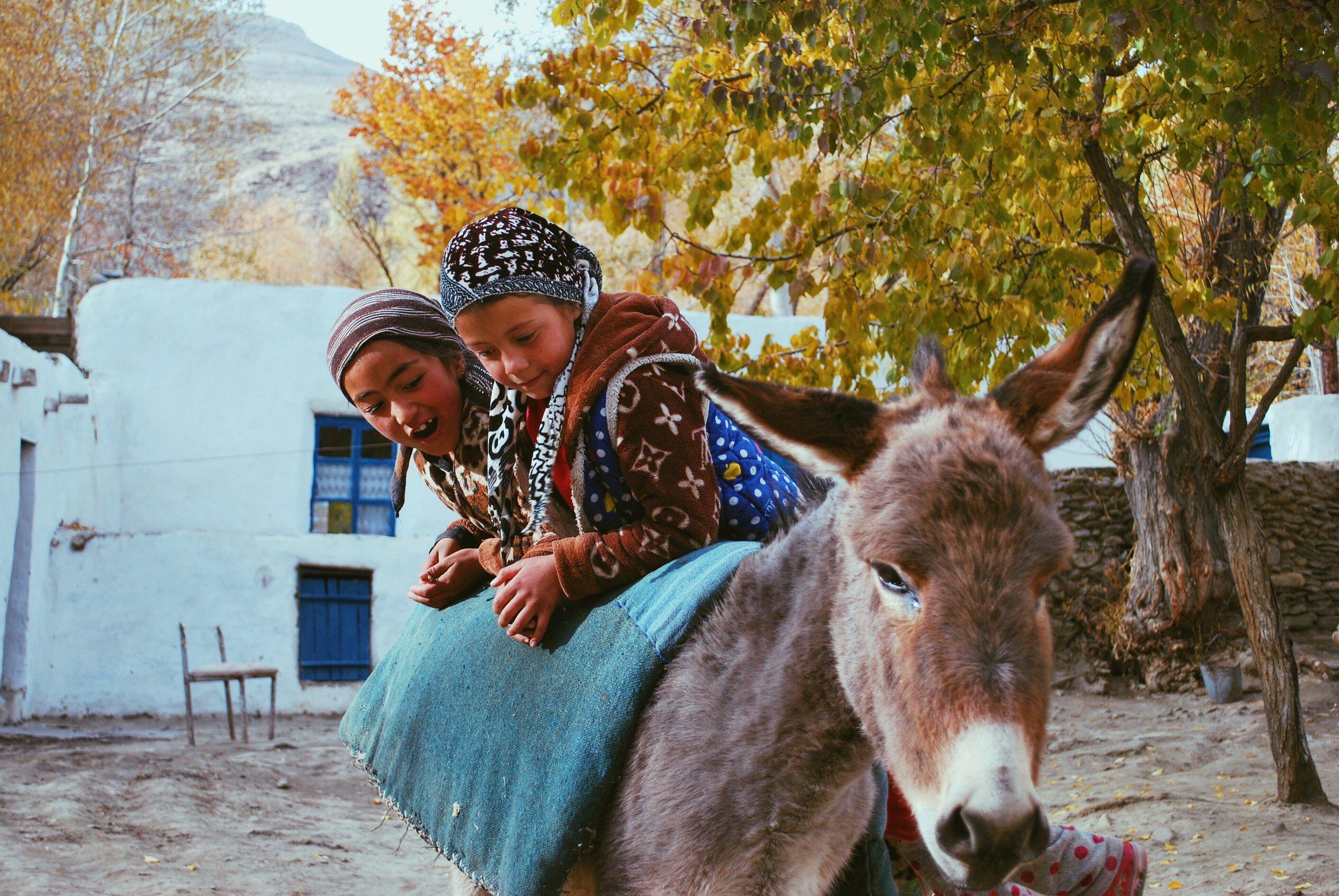 children on donkey RWB.jpg