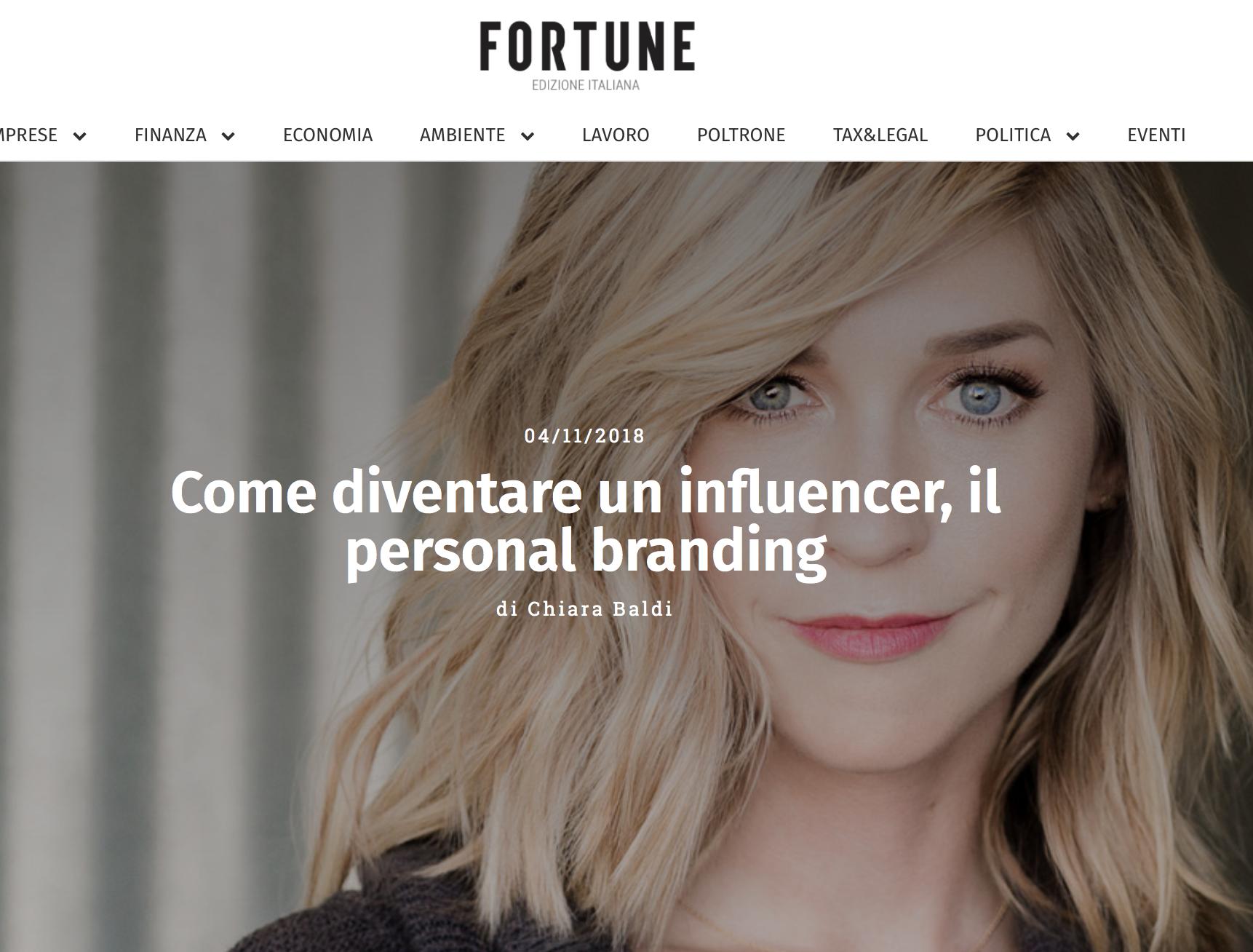 Come diventare un influencer, il personal branding - FORTUNE ITALIA